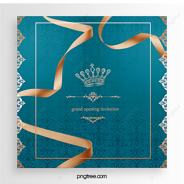 Blue Luxury Grand Opening Invitation Letter Template For Free