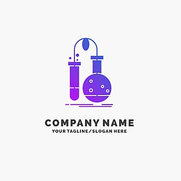 Blue Business Logo Template For Testing Chemistry Flask Lab