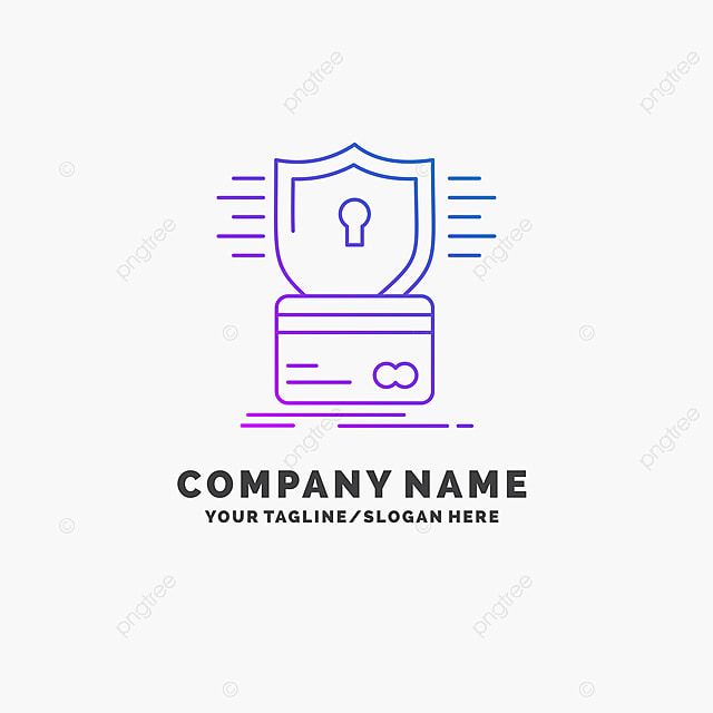 Security Credit Card Card Hacking Hack Purple Business Logo