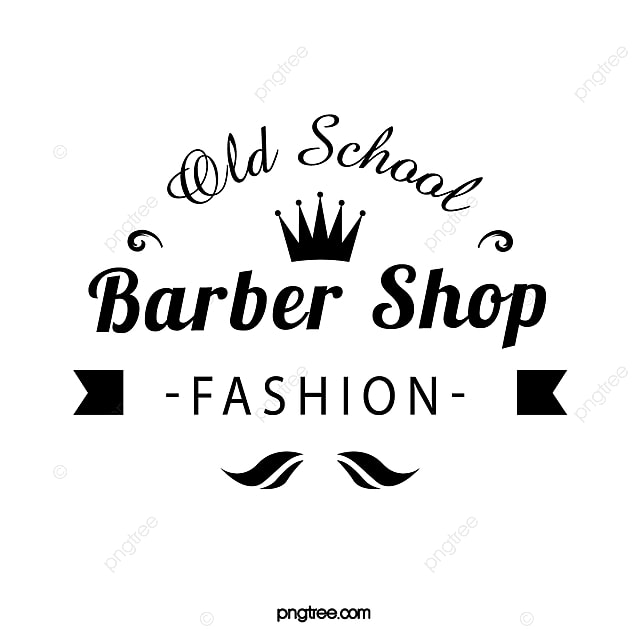 European Crown Retro Barber Shop Logo Template for Free Download on