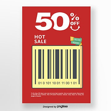 barcode elements hot selling promotional posters Template