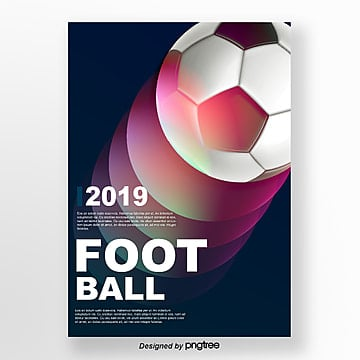 colour football projection impact sports posters Template