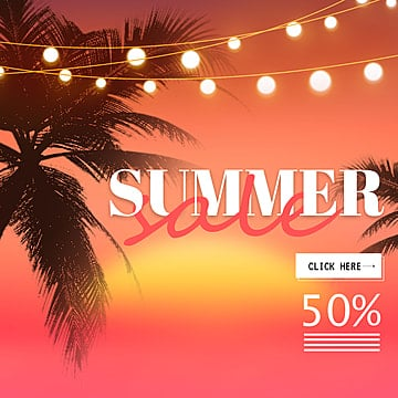 gradual background propaganda poster for summer discount season Template