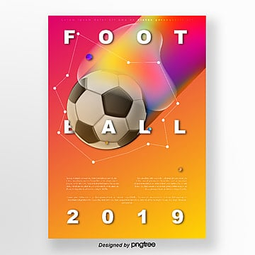 orange gradient fluid soccer shock poster Template
