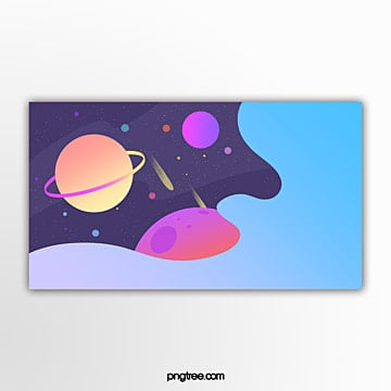 outer plane space gradual planet banner Template
