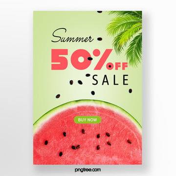 palm watermelon colour promotion template in summer Template