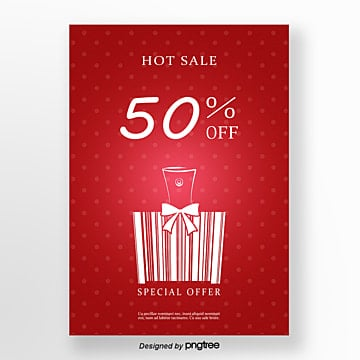 perfume bar code elements red hot sales promotion poster Template