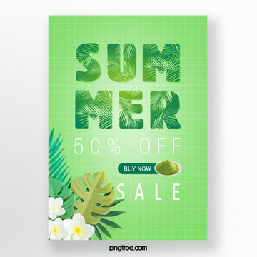 promotion template for fresh green leaves in summer Template