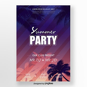 Propaganda posters for summer stellar events Template