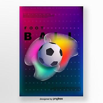 purple gradual wave point fluid football poster Template