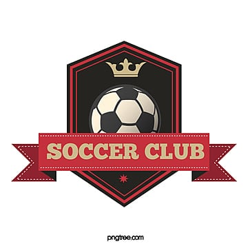 red black retro polygon football club logo Template