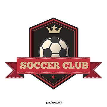 red black retro polygon football club logo Template