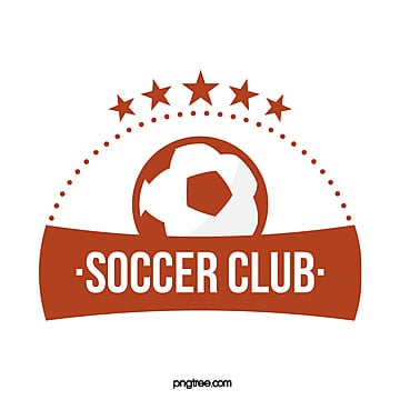 red football club sign star Template