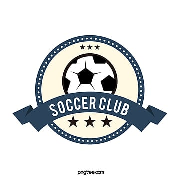 round banner dark blue football club logo Template