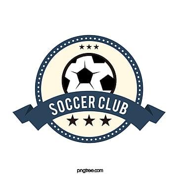 round banner dark blue football club logo Template