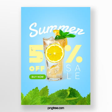Summer Mint Lemon Special Drink Colour Promotion Template Template