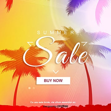 Sunset Gradual Change Creative Coconut Tree Sns pop up Template