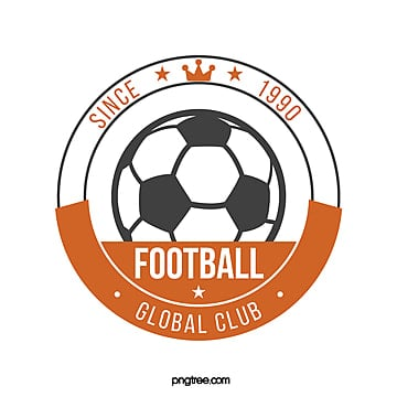yellow retro round football club logo Template