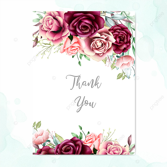 beautiful wedding card with watercolor background template