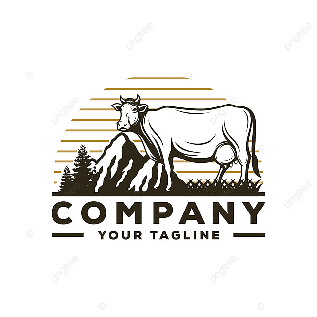 cow farm logo vector Template for Free Download on Pngtree