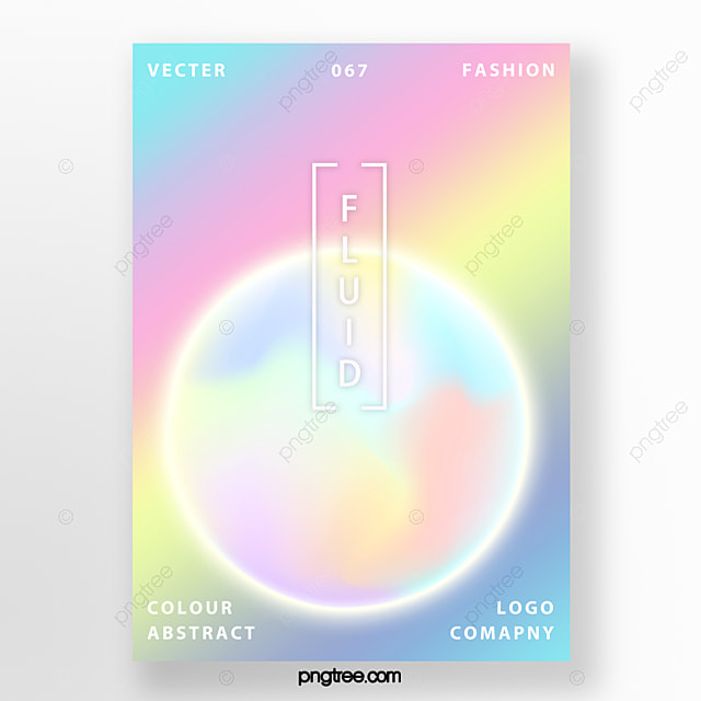 Fashion Rainbow Holographic Poster Template For Free