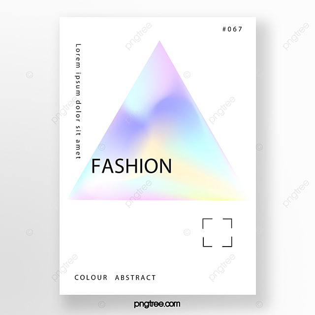 simple fashion rainbow holographic poster Template for Free