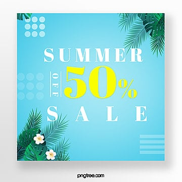discount template for colour impact promotion in summer Template