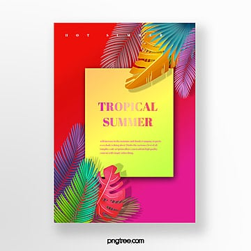 gradient template for summer tropical plants Template
