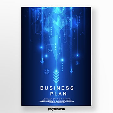 blue business technology poster Template