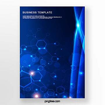 business technology star poster Template