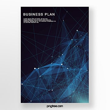 dark technology line business poster Template