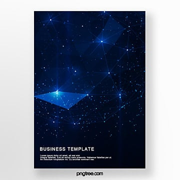 dark technology star business poster Template