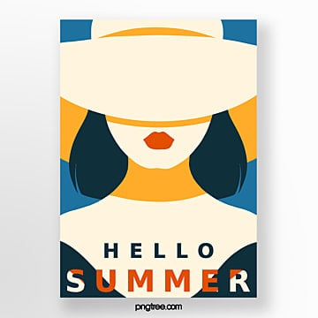 simple retro style orange summer posters Template