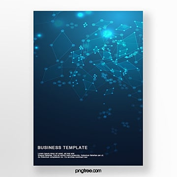 technological geometry business poster Template