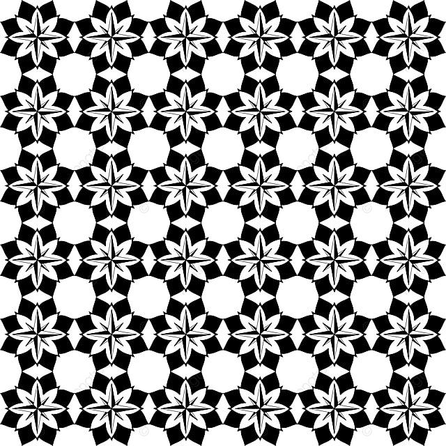 Simple Batik Walpaper Vector Design Template For Free