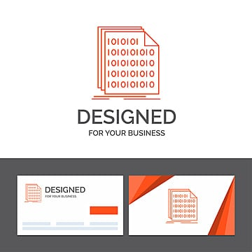 business logo template for binary code coding data document Template