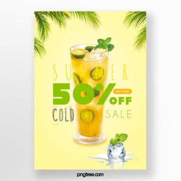 promotion template for colour bumping of limonite drinks in summer Template