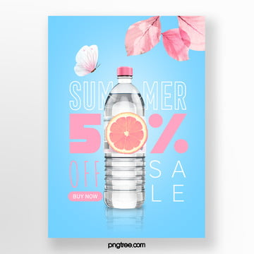 promotion template for colour colouring of blue base and pink leaf in summer Template