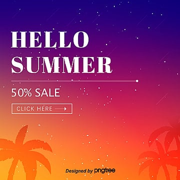 simple summer promotion planar poster with star gradient Template