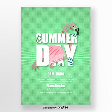 summer combination text poster Template
