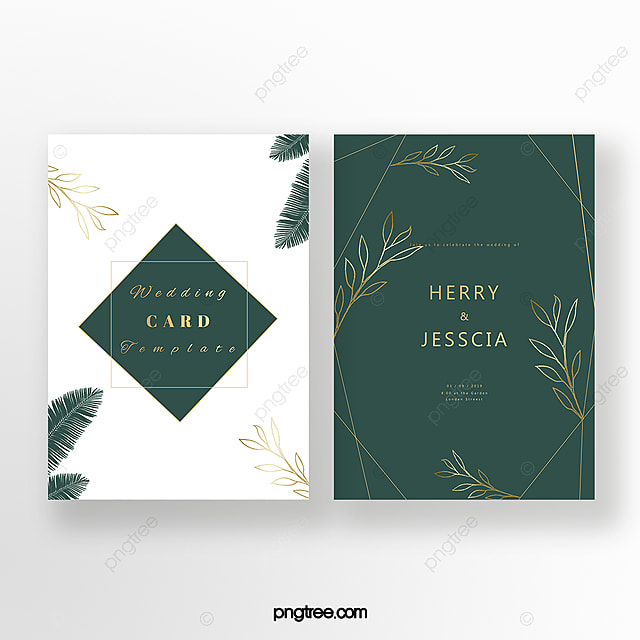 Exquisite Emerald Invitation Card Template For Free