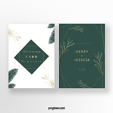 exquisite emerald invitation card Template