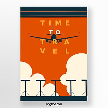 simple retro style travel posters Template