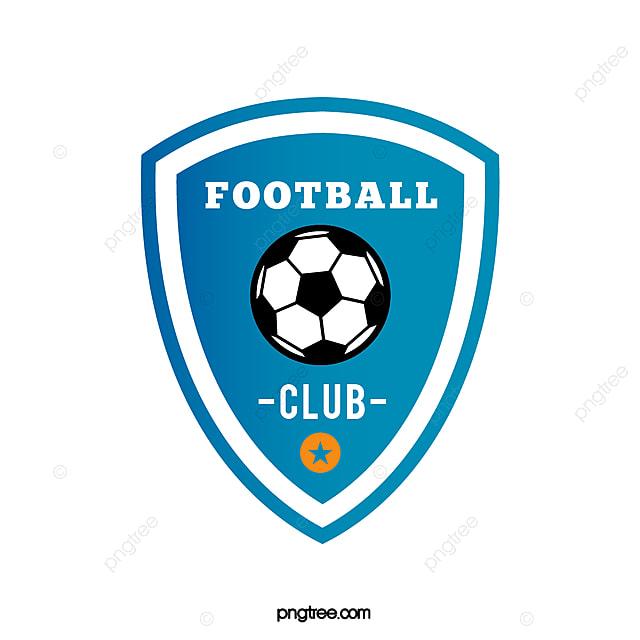 Gradual Blue Shield Football Club Logo Template for Free Download on