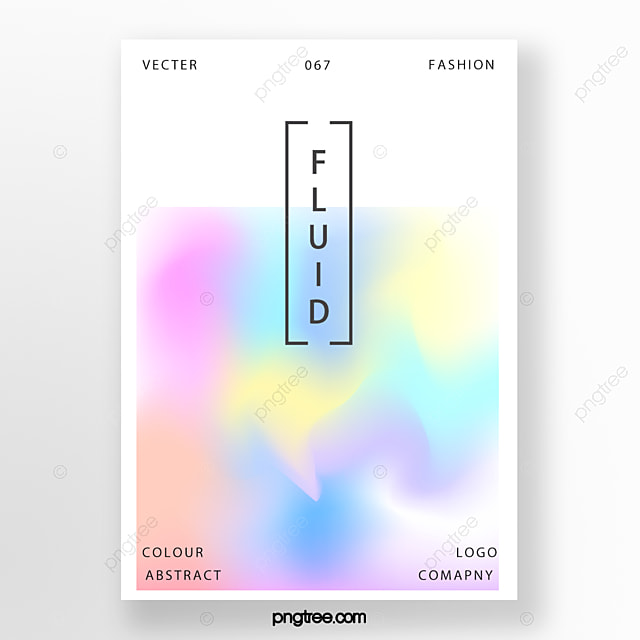Rainbow Holographic Gradient Poster With Simple Fashion