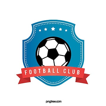 blue creative shield football club logo Template