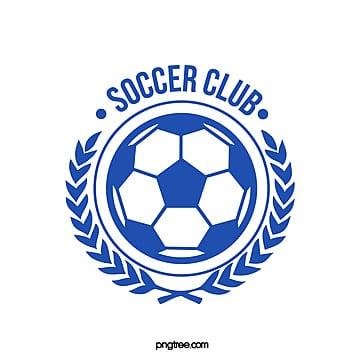 blue football club wheat ear logo Template
