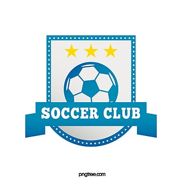 blue gradient banner football club logo Template