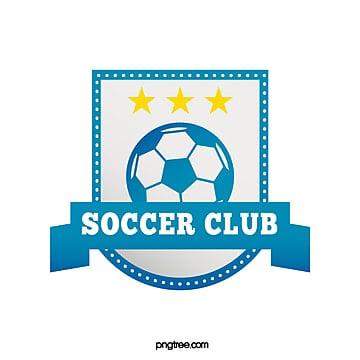 blue gradient banner football club logo Template