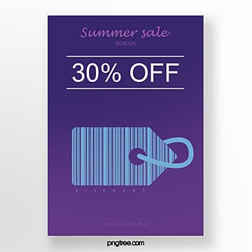 blue hot selling label bar code creative activity poster Template